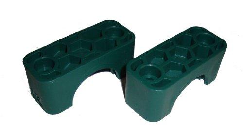 Hydraulikrohrschelle d=25mm grün Ober- und Unterteil