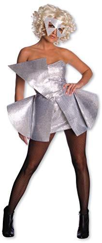 Rubie's Lady Gaga Silber Paillettenkleid Karneval Verkleidung Damen Extra Small Extra Small
