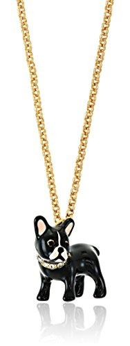 kate spade new york Antoine Dog Mini Pendant Necklace, 17' + 3' Extender