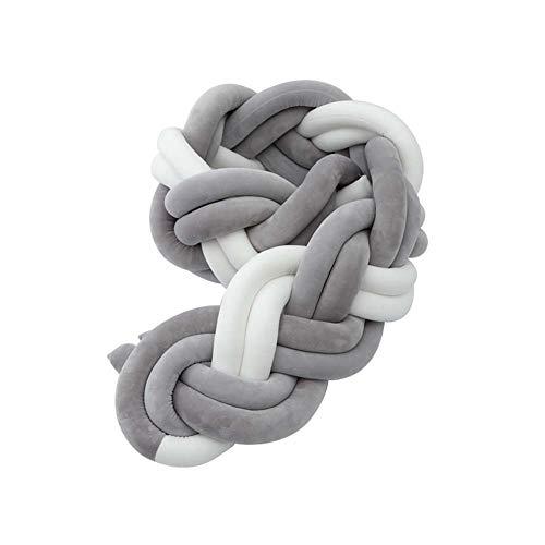LUUDE handgemaakte vlecht voor babybed, bumper, kussens, sierkussens, voor slaapbescherming, bed, pasgeborenen, Style14,3 m