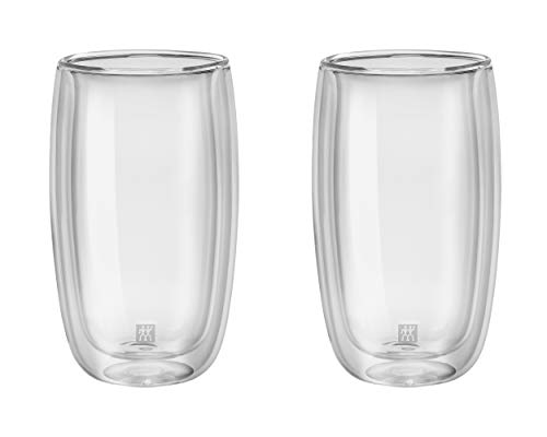 Zwilling Sorrento Latte Macchiato Glas 350 ml, doppelwandig 2er Set