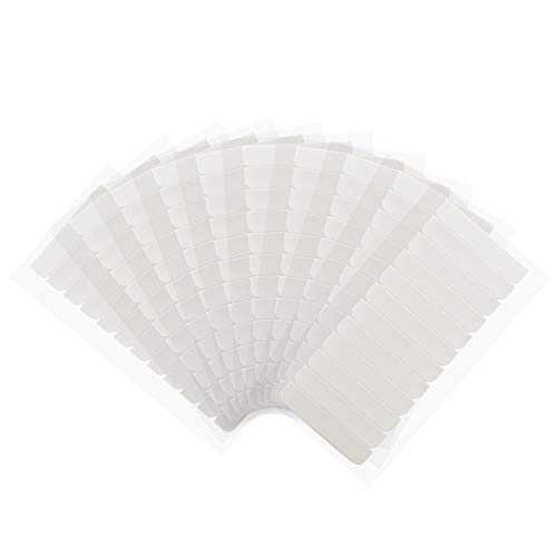 120 Pieces Hair Extension Tape Tabs 0.8cm x 4cm Double Sided Replacement Tape for Hair Extensions (White)