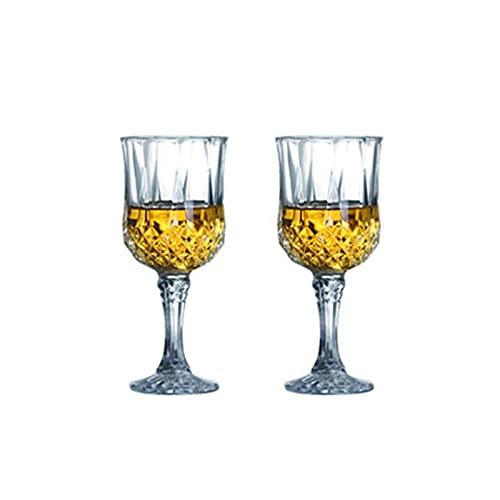 ZIS 2/4 PCS Creativo Cristal DE Cristal DE Cristal DE Cristal DE Cristal DE Diamante DE Diamante CUBIERTE Europeo CHAMPAÑO DE Vino DE Vino DE Vino Cup (Color : 220ml 2pcs)