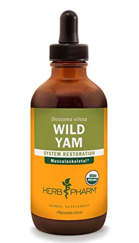 Herb Pharm Certified Organic Wild Yam Liquid Extract for Musculoskeletal System Support - 4 Ounce