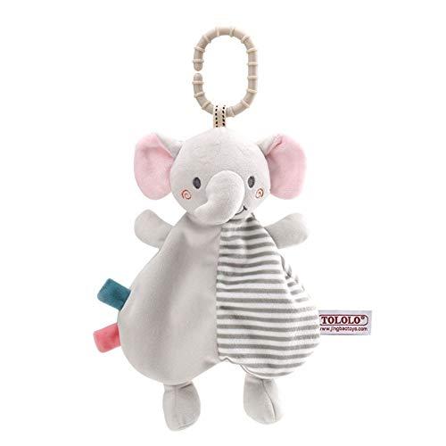 DishyKooker Comfortabele babyhanddoek, infant slabbetje, kinderwagen, hangen, speelgoed, mooie cartoon olifant hond konijntje hert voor 0-3 jaar jongens meisjes