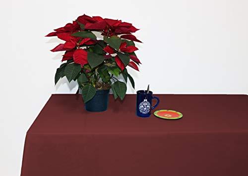Perfect Textil Mantel Mesa Rectangular Color Liso de Poliéster Lavable Ideal para...