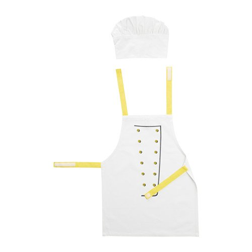 IKEA TOPPKLOCKA Kochmütze und Schürze, Set für Kinder