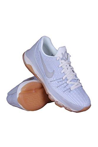 Nike Kids KD 8 GS, WOLF GREY/ METALLIC SILVER-WHITE, Youth Size 4