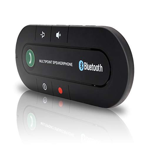 Hengda Auto Kfz Freisprecheinrichtung V4.2 Bluetooth Sonnenblende Freisprechanlage Car-Kit zurück Kompatibel mit iPhone, Samsung für GPS,Musik,Rufen Sie