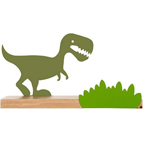 Percheros de Pared Estante De Pared De Dinosaurio, Decoración De Pared Creativa De Dibujos Animados, División De Almacenamiento De La Habitación del Niño, Cojinete De Carga 10 Kg