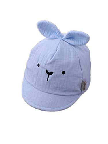 AQ1 Baby mütze Sonnenschutz Neugeborene Baumwolle niedliche Sonnenschutzkappe-0-3 Monate_ blau