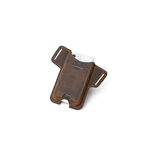 Hiram Funda de cuero para teléfono celular Funda universal para hombre Funda para bolso de cintura con trabilla para cinturón, Bolsas para teléfono para hombres