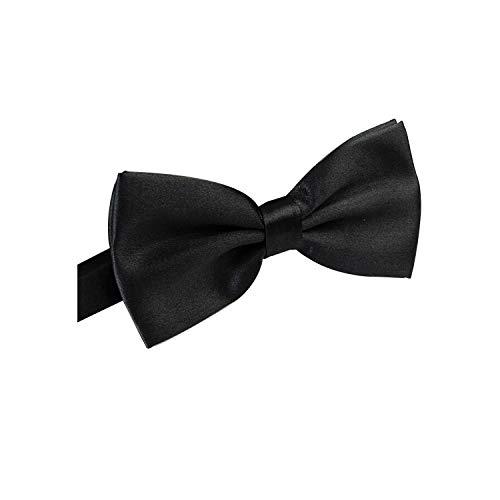 Trimming Shop Assortiment Couleur Noeud Papillon pour Homme - Pré-noué Papillon Cravate avec Sangle Réglable - Satin et Polyester Accessoire pour Mariage, Fête - Noir, 13cm x 5cm, 13cm x 5cm