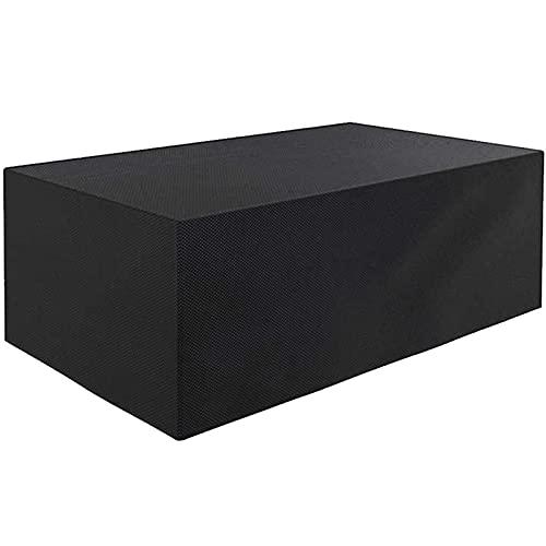 DKLE Möbelschutzhülle 420D Oxford, Möbelschutzhülle, staubdicht für Gartenbank, Außen, Tisch und Stühle