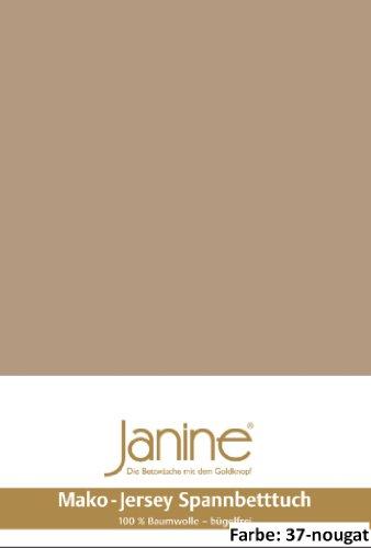 Janine Spannbettlaken Jersey 5007, Gr. 100x200 cm, Fb. 37 Nougat, Mako-Feinjersey