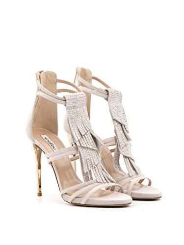 NINALILOU Sharon High Heel Sandalen met franjes en strass - 271002 Sharon 1063 - maat