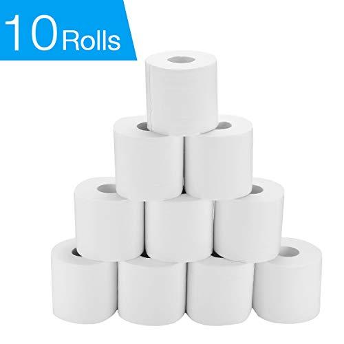 10 Rolls Toilet Paper, 4-Ply Emb...