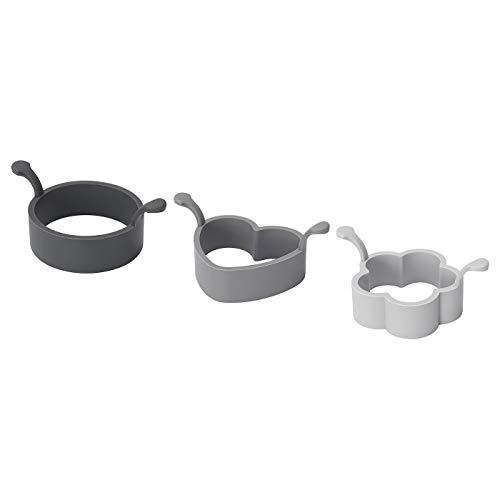 3-teiliges Kochformen-Set aus Silikon, Lieferumfang: Breite: 9 cm, Höhe: 5 cm, Länge: 30 cm, Gewicht: 0,23 kg, Lieferumfang: 1 Stück.