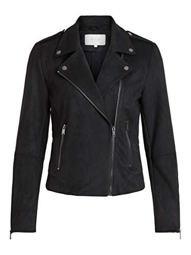 Vila Damen Vifaddy Jacket - Noos Jacke, Schwarz, 40 EU