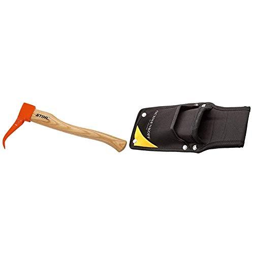 Stihl Handsappie, Orange & Ochsenkopf Keiltasche, Für Alu- und Kunststoffkeile, 2 Fächer, Robustes Polyester