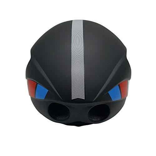 Sebasty Negro (54-58 cm) M / (58-62 cm) L Casco de bicicleta Casco de equitación Magnético Lens Mountain Road Bike Casco puede ser personalizado (Tamaño: M)