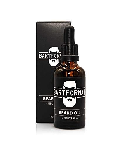 Barba Formato bartöl (60ml) olor Neutral–Barba Cuidado aceite para un Barba–blandos con, aloe vera y Jojoba Matricaria aceite