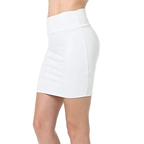 Routinfly Damen Mode Kleid Petticoat Kurz Ballett Ballkleid Unterrock Sexy Abendkleid PartyRock Normallack-hohe Taillen-klassischer einfacher dehnbarer Schlauch-Bleistift-Minirock
