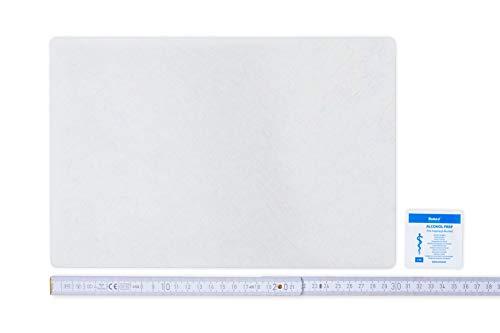 Flickly Anhänger Planen Reparatur Pflaster   in vielen Farben erhältlich   30cm x 20cm   SELBSTKLEBEND (Transparent   Durchsichtig)