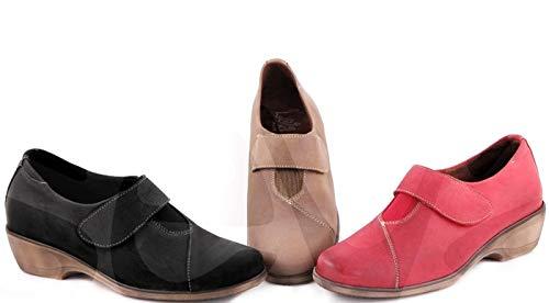 zapatos-estil Lola Rico 3005 Leder-Schuhe, Futter Textil, Sohle: Textil, Absatz: 4 cm, Beige - Taupe - Größe: 39 EU