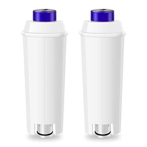LADYSON Wasserfilter für DeLonghi Kaffeemaschinen DLSC002,Filterpatrone Ersatz kompatibel mit ECAM, ETAM, Esam, BCO, EC Serie (2 Stücke)