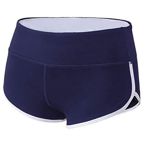 TYUIO Running Shorts for Women Crossfit Yoga Trainning Pants Sports Shorts Navy XXL