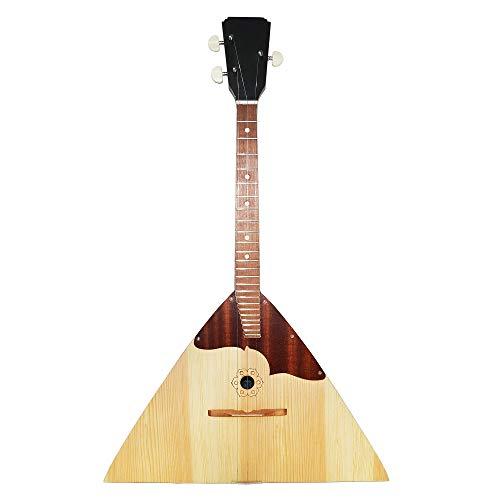 New Original Russian Balalaika Prima 3 Strings. Natural Wood. Classic Folk Musical Instrument.