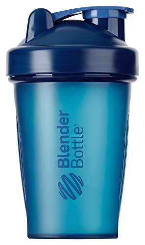 BlenderBottle Classic Botella de agua | Botella mezcladora de batidos de proteínas | con batidor Blenderball | libre de BPA | 820ml - Navy