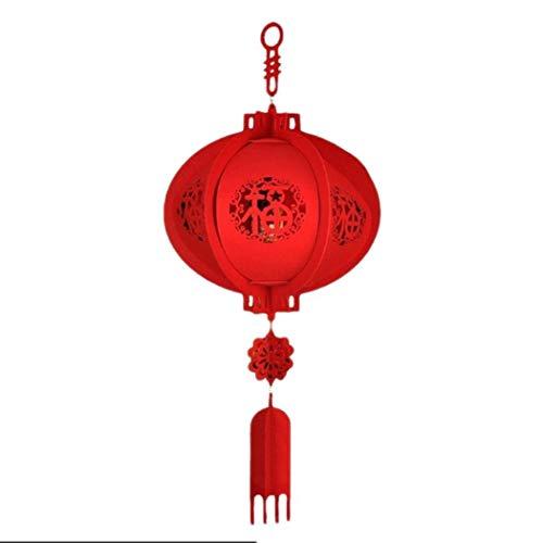 Zuionk Chinesische Neujahrslaterne verziert DIY Hauptfestival-Dekoration Dekorationszubehör