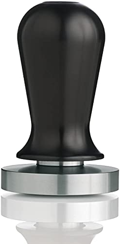 ESPRO Calibrated Stainless Steel Flat Espresso Coffee Tamper, 58 mm, Black