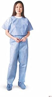 Medline NON27213XXL Disposable Scrub Pants, XX-Large, Blue (Pack of 30)