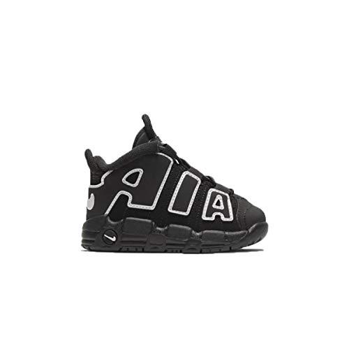 Nike Niños AIR More Uptempo Casual Zapatos Negro/Blanco, negro (Negro/negro/blanco), 25 EU