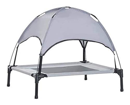 Xhwyf Erhöhte Hundebett-Medium-Größe mit abnehmbarem Baldachin.Das hochgezogene Hunde-Haustier-Bett-Zelt eignet Sich für tragbare Camping-Strand-Reisemarkisen auf Innen- und Außenbetten.