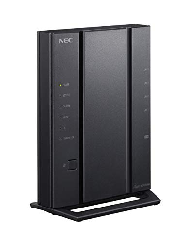 NEC Aterm 無線LANルーター Wi-Fi 5 (11ac) 全方位カバー強化アンテナ搭載 4ストリーム対応 (5GHz帯 / 2.4G...