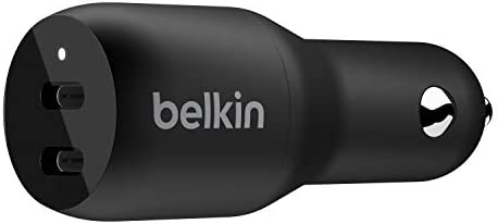 Belkin USB C PD Car Charger 36W Dual 18W USB C Power Delivery Car Charger for iPhone 11 11 Pro product image