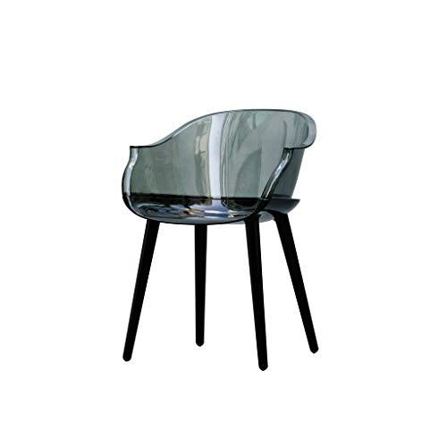 Eetstoel, Computer Stoel Stoel Bureaustoel Eenvoudige Moderne Creatieve Acryl Kunststof Stoel for Thuis (Color : A)