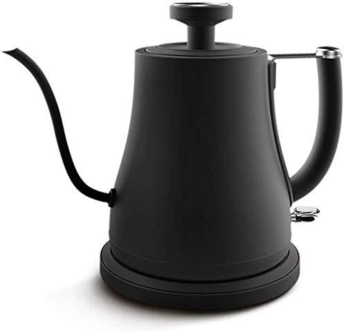 KAUTO Hervidor de Agua con Cuello de Cisne, hervidor electrico de Acero Inoxidable de 220 V 900 W, hervidor de Agua para cafe con termometro