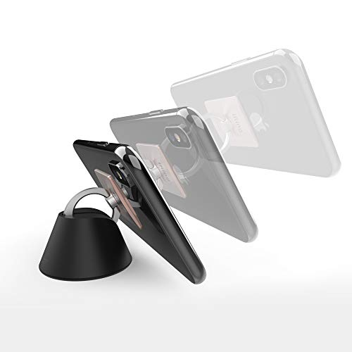 iRing Dock Car Mount Cradle. Compatible with Original iRing Products ONLY. Multipurpose, Car Dashboard, Desk or Wall Ring Holder Stand, Compatible with All iPhones, Andriod and Smartphones.
