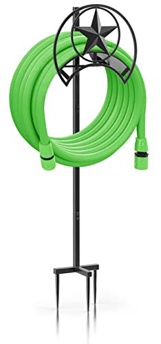 MEARTEVE Garden Hose Holder Stand, Deatachable Free Standing Water Hose Holder Stand, Heavy Duty Hose Storage with 3 Anchor Points for Garden, Yard and Patio