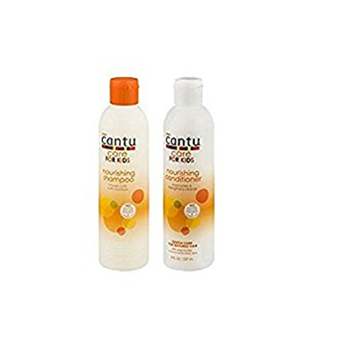 Cantu Care for Kids Tear-free Nourishing Shampoo 8oz & Conditioner 8oz Duo-set (with EOS Hand Lotion) by Cantu