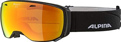 Alpina Estetica MM Skibrille, black matt, One size