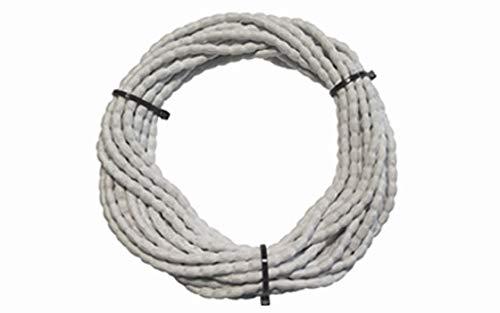 DewTec Bleiband - 6m - 100g/m, Weiß - Bleikordel, Bleischnur, Beschwerungsband, Vorhängebeschwerung