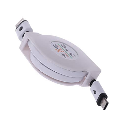 CAREMiLLE Qianqian56 Retractable T-Ype C Data + Sync Cargador USB 3.1 Cable de Carga, el Adaptador de Corriente