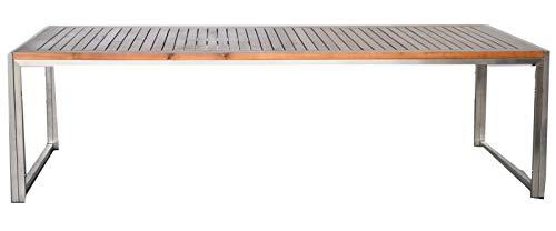 Jet-Line Loungetisch Gartentisch Gartenmöbel Tisch passend zu Gartenset Artemis, Akazienholz Edelstahl