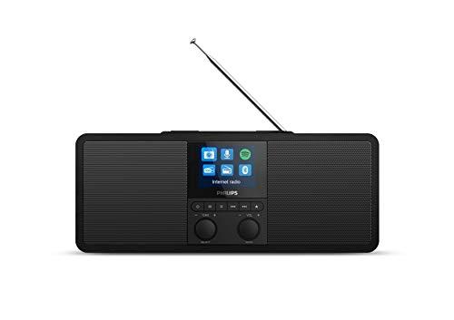 Philips Radio por Internet R8805/10 Dab+ Radio con Spotify Connect (Bluetooth, Temporizador, Alarma Dual, Panel de Carga Qi para Móviles, USB) Color Negro - Modelo de 2020/2021